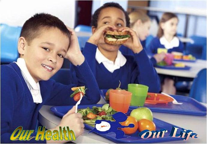 Eating at school for child nutrition