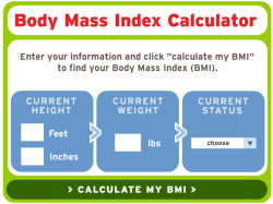 Body Mass Index or BMI Calculator