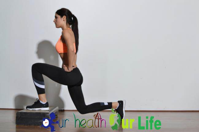 Lunges to lifting the butt