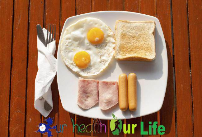 Reduce waist size - eat protein rich breakfast