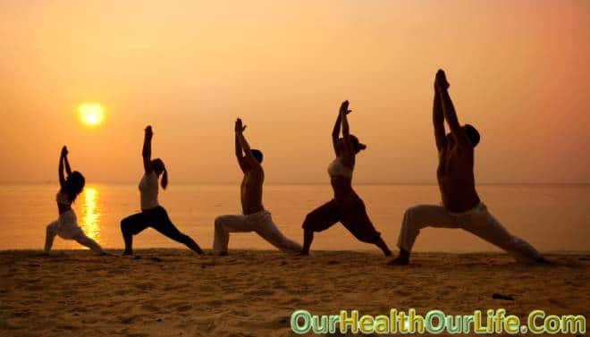 Yoga Class Beach