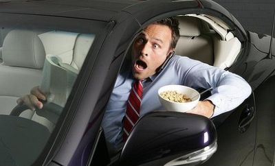 Dining while driving