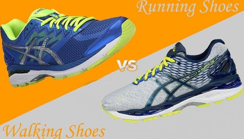 The differences between a running shoe and a walking Shoe