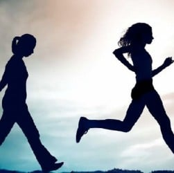Does running burn more calories than walking